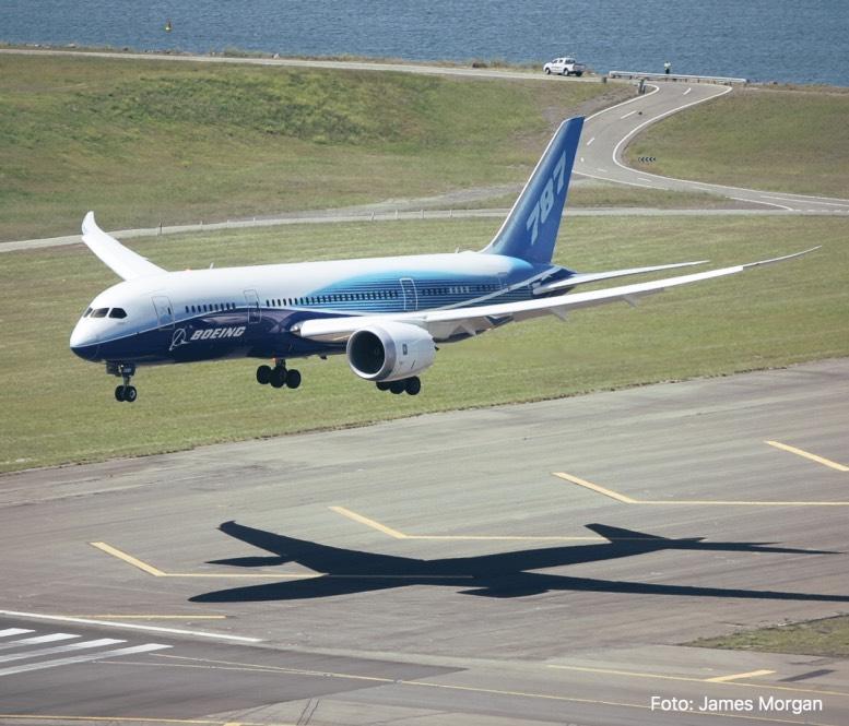 Landung Boeing 787