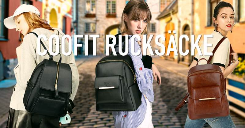 Eleganter Rucksack aus hochwertigem Kunstleder A4