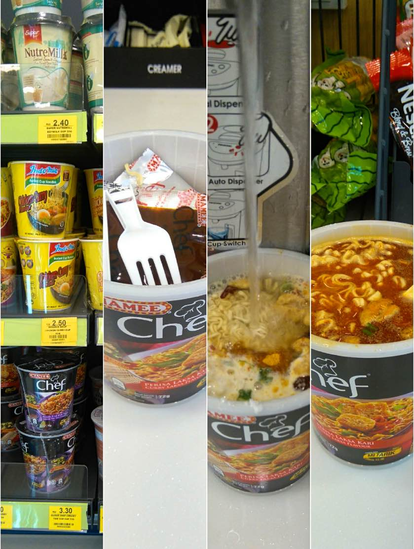 Instant Nudelsuppe bei Seven Eleven
